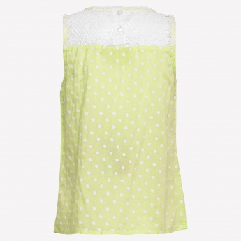 BARBIE Polka Dot Sleeveless Top
