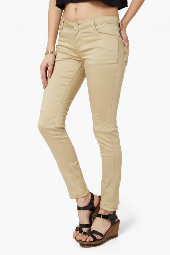 KRAUS Solid Slim Fit Pants