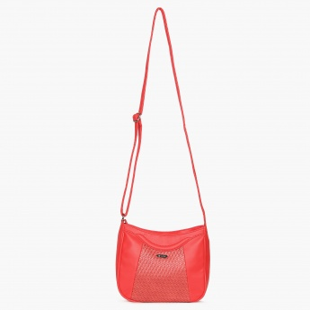 LAVIE Textured Adjustable Strap Sling Bag