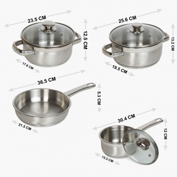 Tuscano Cookware Set- Set Of 7 Pcs.