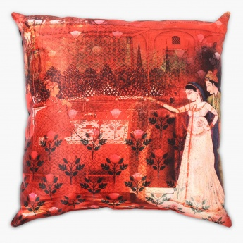 Matrix Marigold Digital Print Filled Cushion - 45 x 45 CM