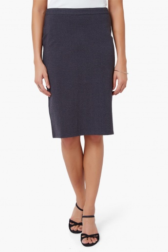 UNITED COLORS OF BENETTON Solid Pencil Skirt
