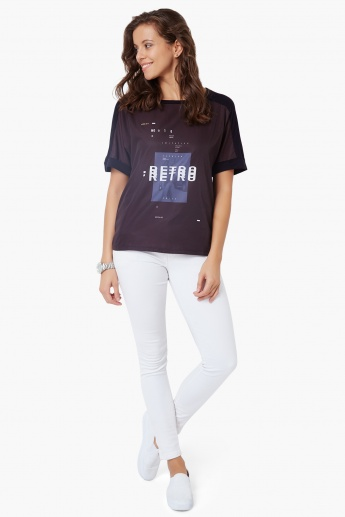 UNITED COLORS OF BENETTON Round Neck Top