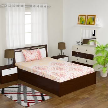 Mandarin Single Bedsheet Set- 2 Pcs.