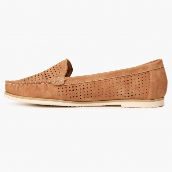 GINGER Perforated Slip Ons