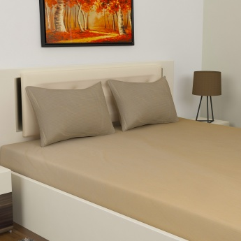 D'DECOR Luxe Textured Large Bedsheet Set