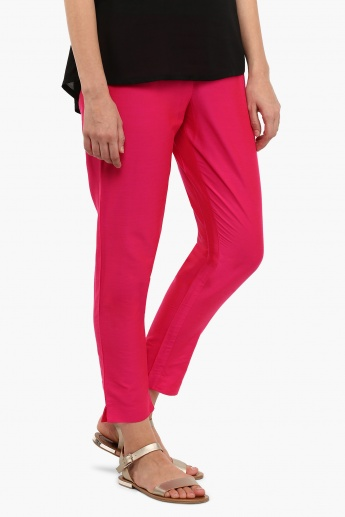 MELANGE Solid Straight Pants
