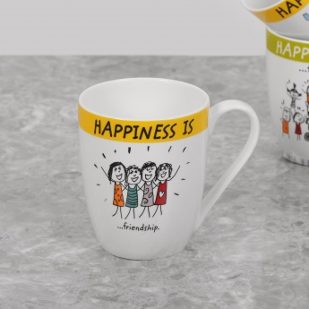 Happiness Friendhip Bone China Mug