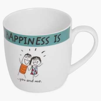 Happiness You Me Bone China Mug
