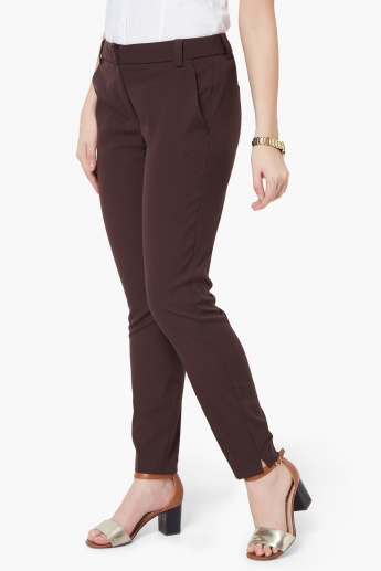 VERO MODA Solid Pocketed Trousers