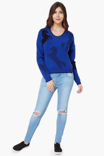 VERO MODA Surf The Web Flat Knit Sweater