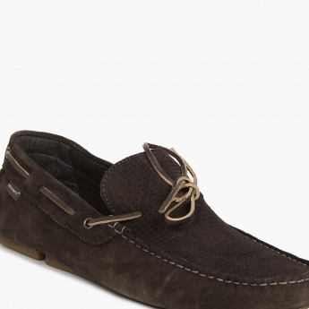 RED TAPE Suede Finish Boat Shoes