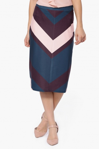 UNITED COLORS OF BENETTON Front Merge Midi Skirt