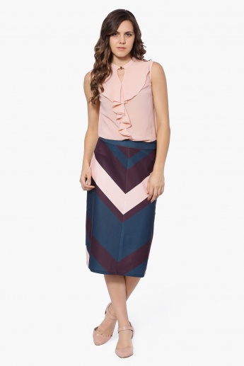 UNITED COLOURS OF BENETTON Front Merge Midi Skirt