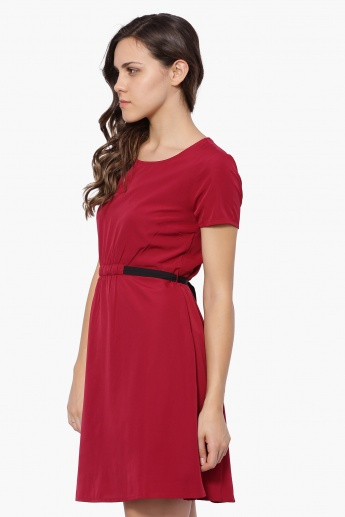 UNITED COLORS OF BENETTON Elasticated Centre Blush Dress