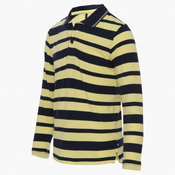 UNITED COLORS OF BENETTON Striped Full Sleeves T-Shirt