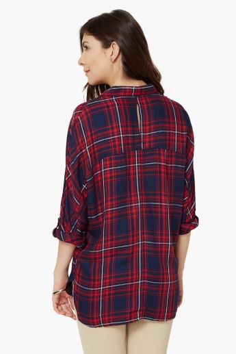 ONLY Dolman Sleeves Check Shirt