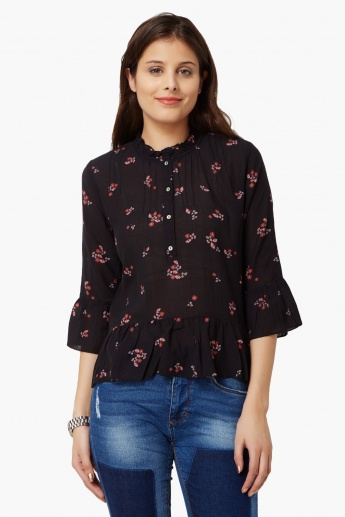 ONLY Floral Print Bell Sleeves Blouse