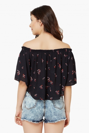 ONLY Printed Off-Shoulder Blouse