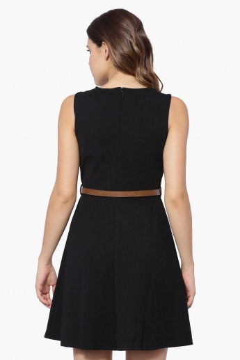 VERO MODA A-Line Solid Dress