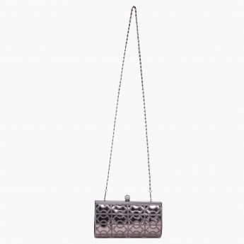 PAPRIKA Bling Game Chain Strap Clutch
