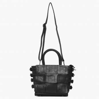 CODE Belted Hour Adjustable Strap Handbag