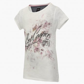 LEE COOPER Chest Imprint Round Neck Top