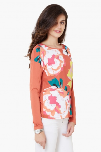 UNITED COLORS OF BENETTON Floral Print Full Sleeves Top