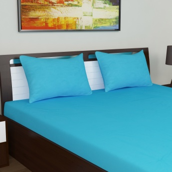 PORTICO Solid Double Bedsheet Set