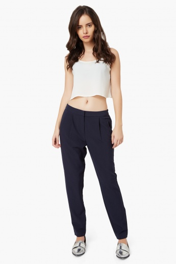 VERO MODA Solid Pocketed Pants