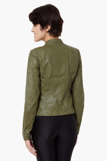 VERO MODA Zip-Up Biker Jacket