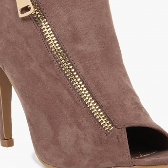 GINGER Peep-Toe Pencil Heel Boots