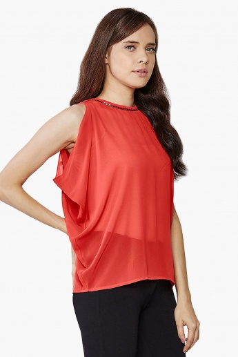 AND Sleeveless Embellished Blouse