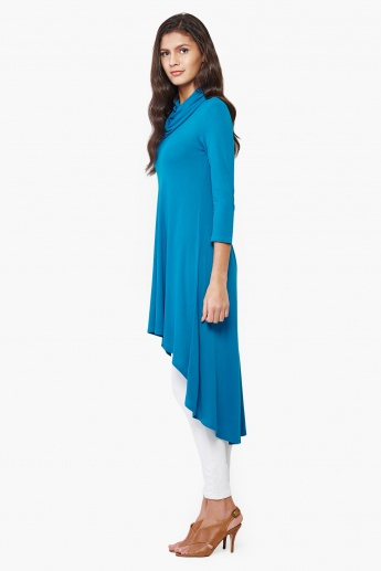 AND Cowl Neck High Low Tunic