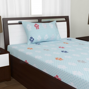 Adventures of U-tron Single Bedsheet Set - 2pc