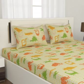 City Goes Wild Double Bedsheet Set -3pc