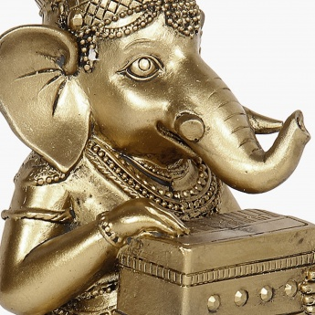 Galaxy Mystic Ganesha With Harmonium Figurine