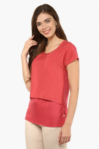 UNITED COLORS OF BENETTON Layered Solid Top
