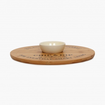 Beautiful Home Bamboo Chip & Dip Set