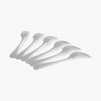Glister Rosemary Stainless Steel Dinner Fork - Set Of 6 Pcs.