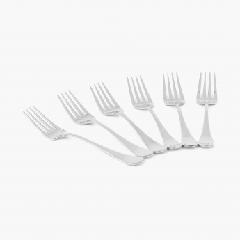 Glister Rosemary Stainless Steel Baby Fork - Set Of 6 Pcs.