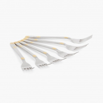 Glister Royal Meadow Dinner Fork- Set Of 6 Pcs.