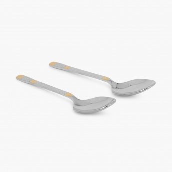 Glister Royal Meadow Serving Spoon- Set Of 2 Pcs.