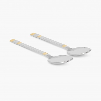 Glister Royal Meadow Large Serving Spoon - Set Of 2 Pcs.