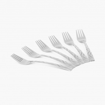 Glister Royce Stainless Steel Baby Fork - Set Of 6 Pcs.
