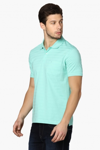 CODE Solid Mercersied Polo Neck T-Shirt