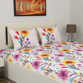 D DECOR Classic Double Bedsheet Set-3 Pcs.