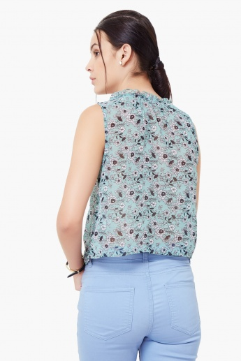 GINGER Floral Print Sleeveless Top