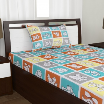 Kids Adventures of U-tron Single Bedsheet Set