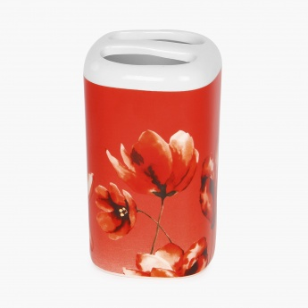Hudson Floral Print Tooth Brush Holder